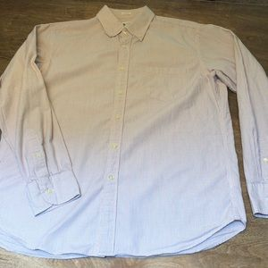 J. Crew tailored fit, size L button up shirt